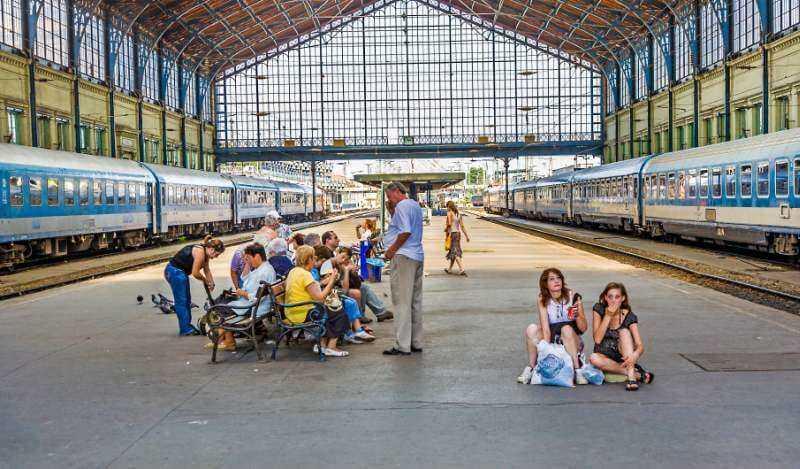 Bahnhof in Ungarn